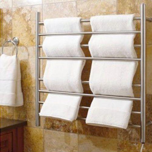 "Towel warmer for a ""spa like"" bathroom. I would like a person to put the towels like this"