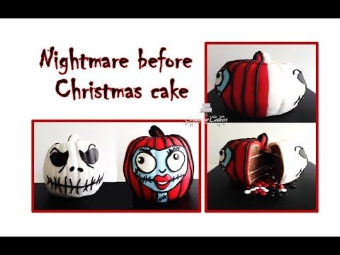 Halloween Cake Nightmare before Christmas 3D Inside Surprise Cake (How to make) - YouTube