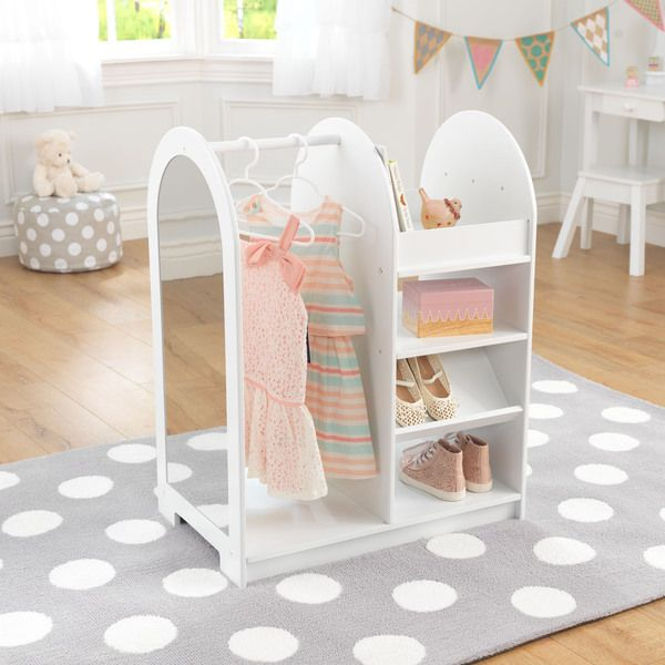 Give your little ones hours of pretend play fun with this KidKraft dress-up unit. Featuring five open shelf areas and a convenient shoe rack, this unit abounds with storage space for hats, scarves, sh