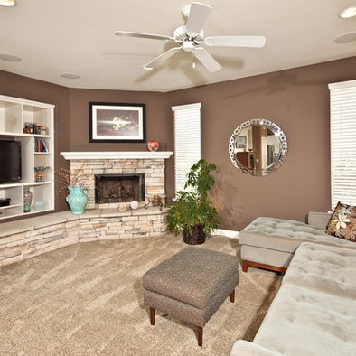 Living photos corner fireplace design pictures remodel - What to put in corner of living room ...