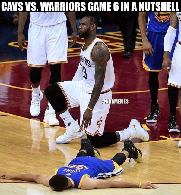 LeBron killing Curry