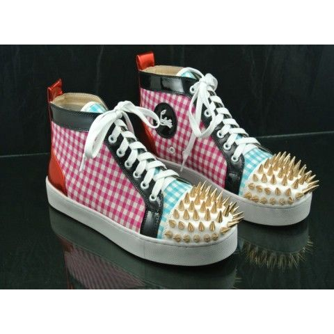 Christian Louboutin Louis Flat Mens Spiked Sneakers
