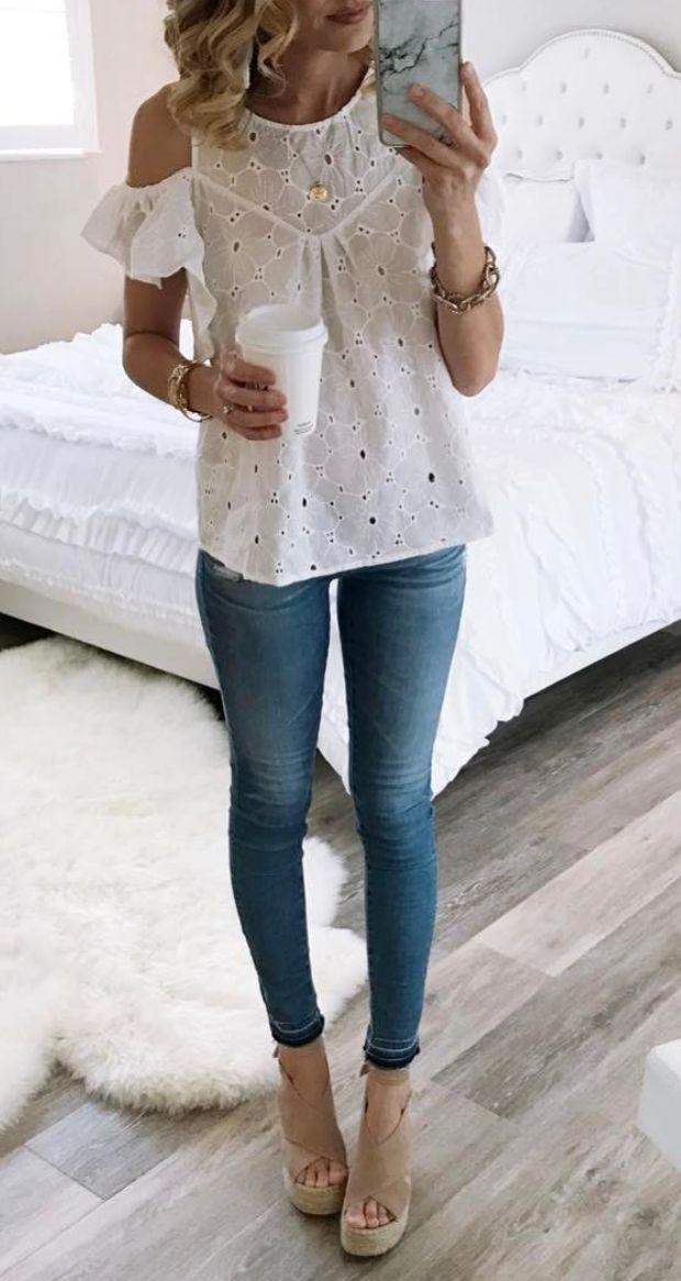 eyelet blouse