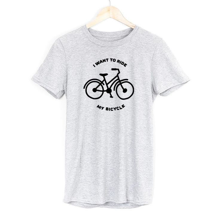£9.99 I Want To Ride My Bicycle Mens Soft Tshirt Cycling Sport Slogan Various Colours  #Get2wear