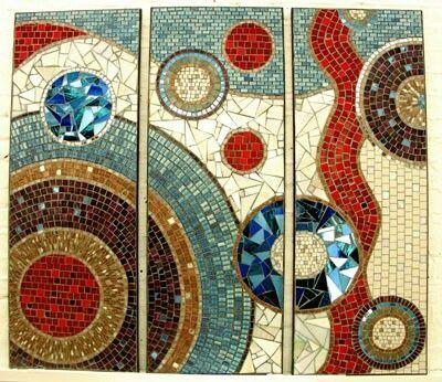 mosaic art triptych | Via ximena salas