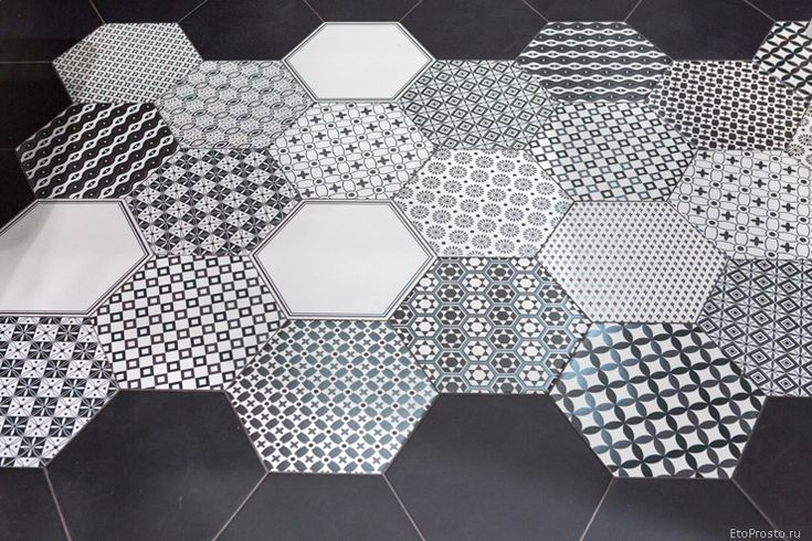 Черно-белая шестиугольная плитка Realonda