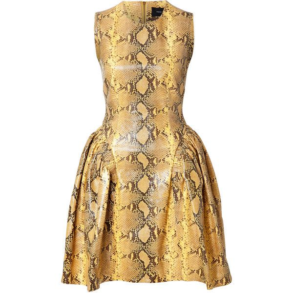 Simone Rocha Snakeskin Cocktail Dress ($1,390) ❤ liked on Polyvore featuring dresses, animal prints, going out dresses, fitted mini dress, fitted party dresses, fitted cocktail dresses and mini cocktail dress