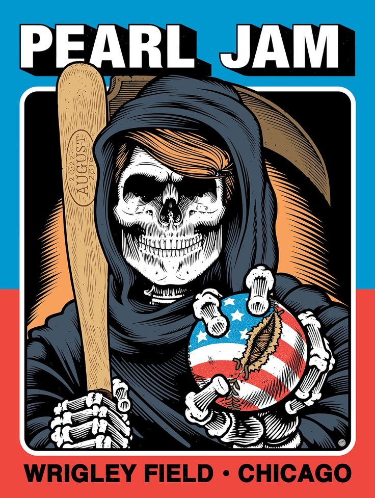 Pearl Jam Sean Cliver Wrigley Field Chicago Artist Edition Release