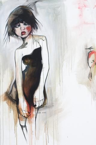 Emma is a live-paint from my days with Ayden Galery in Vancouver. The original painting...