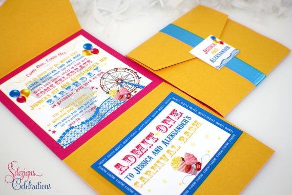 Carnival Birthday Invitations by SDezigns