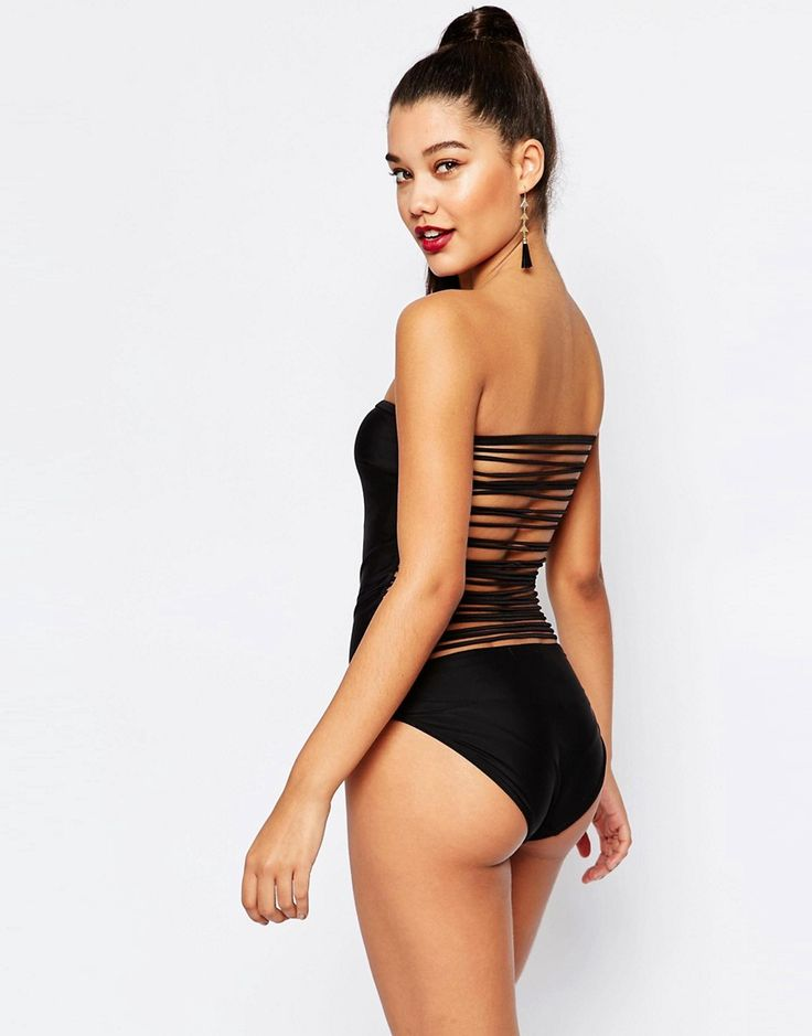 Missguided Swimsuit With Strappy Back