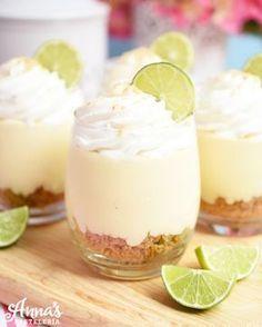 Cheesecake de pie de limón, una receta super sencilla sin horno y que solo lleva 6 ingredientes de Anaisa Lopez de annas pasteleria!! - No bake key lime pie cheesecake recipe with only 6 ingredients