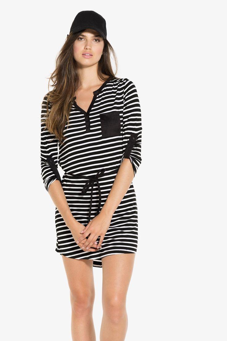 Belted Henley dress