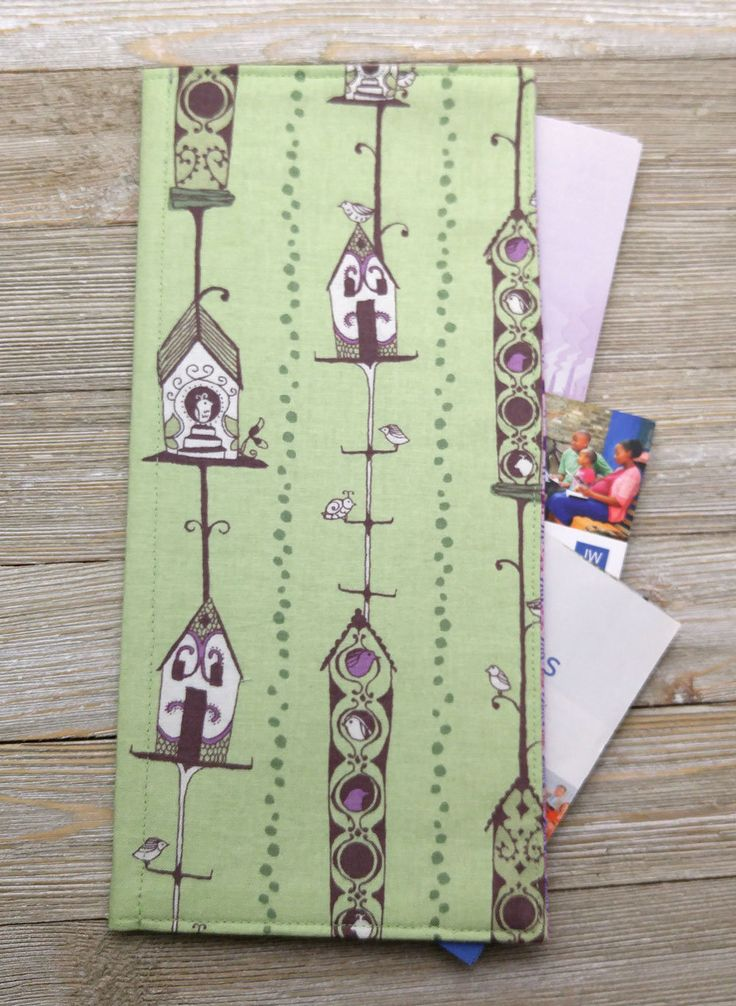JW Tract holder/ tract organizer with pockets for meeting invitations and business cards – ministry organizer, pioneer gift, JW accessories by MinistryThreads on Etsy