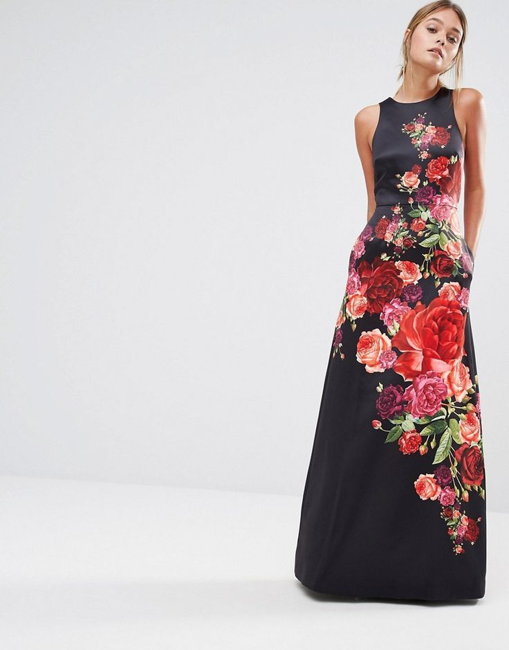 Image 1 of Ted Baker Marico Sleeveless Floral Print Dress