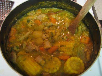 Una comida típica en Panama es el sancocho. Es una sopa con las verduras y el pollo. Es caliente y deliciosa.