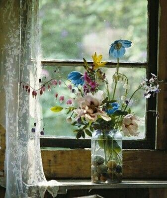 Flowers on the sill