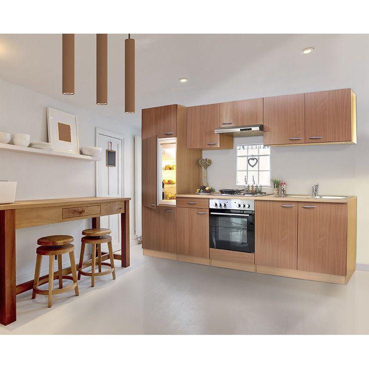 respekta Cucina Angolo Cottura Blocco Vuoto Bianco Blocco Di Cucina 270cm