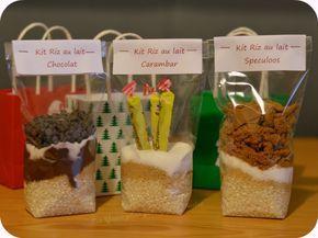 RIZ AU LAIT Verser ds 1 sachet 80g de riz rond 30g de sucre roux 30g de sucre  plus au choix : 3 carambars 50g de spéculoos 30g de cacao en poudre + 50g de pépites de chocolat  Recette à écrire sur le sachet :  Faire bouillir 70cl de lait. Verser le kit riz au lait. Cuire 40min en remuant de temps en temps.Badigeonnez le dos de l'étiquette avec du lait froid et collez l'étiquette sur le verre, en appuyant d'abord sur le milieu de l'étiquette.étiquette ok