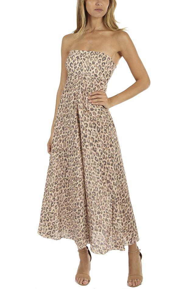 Zimmermann Melody Strapless Long Dress