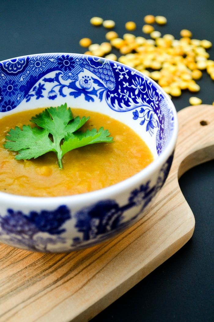 simple creamy and lightly spiced soup made with split peas that is ...