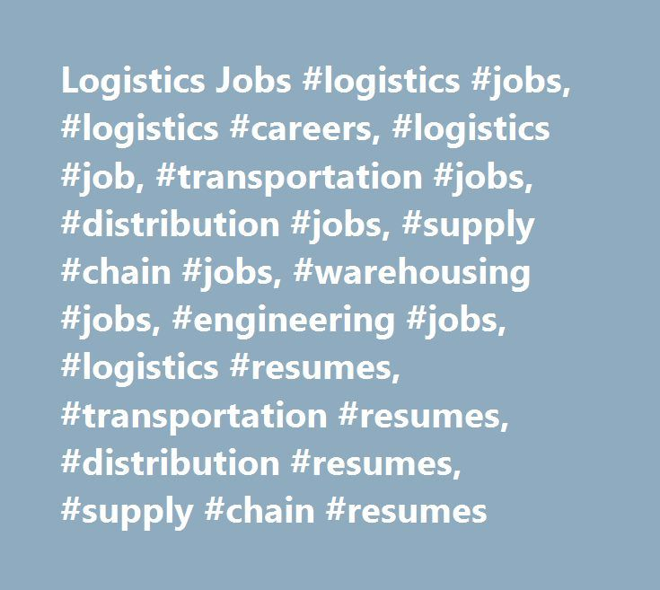 Mer enn 25 bra ideer om Logistic Distribution på Pinterest - supply chain resumes