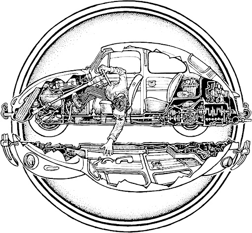 33 best vw drawings images on pinterest