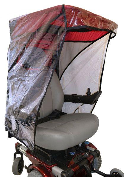 Wheelchair and Stroller Plastic Rain Enclosure  Canopy