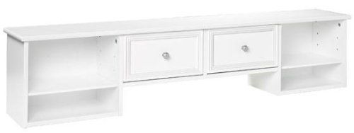 """Oxford Two drawer Desk Hutch, 56""""W, WHITE by Home Decorators Collection. $99.00. Hutch with Drawers:12""""H x 56""""W x 9""""D.. This attractive design makes home office organization a breeze, complimenting your Oxford Desk. The two drawers allow you to keep your desk uncluttered and efficient. Available in a variety of finishes. Sturdy construction with Poplar and MDF. Actual size is 56""""W"""