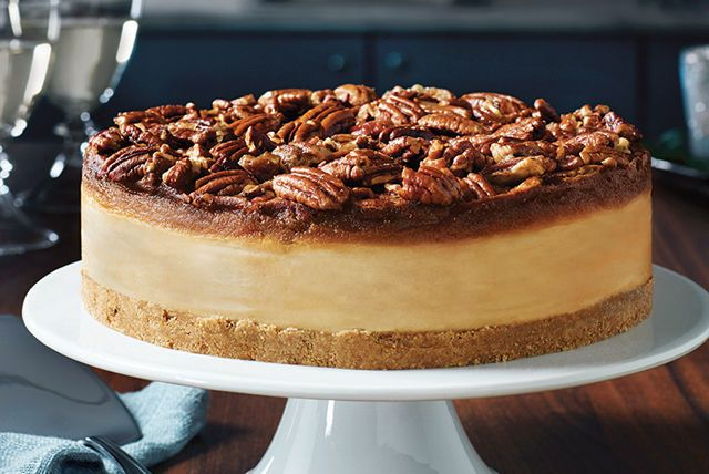 For a twist on the classic pecan pie we decided to combine it with our other favourite desert…cheesecake! The velvety cream cheese centre gives this dessert a lovely tang that pairs well with the rich pecan and butterscotch topping. This mouthwatering recipe is sure to become a dinner party staple!