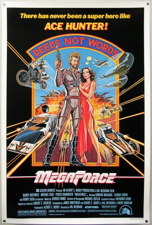 Another 80s-tastic vision of awesomeness.: Movie Posters, Movie Mad, 80S Vibes, Action Movie, 1980S Movie, Megaforc Film Posters, Bad Movie, Megaforc 1982, 80S Graphics