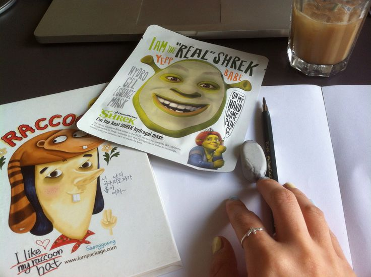 After finishing these sketches, Shrek maskpack is wating for me :)