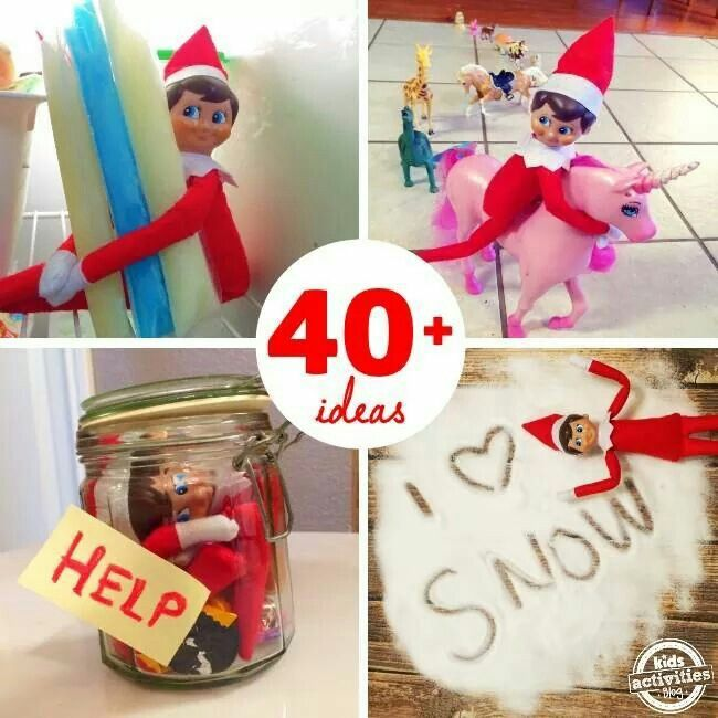 Some creative Elf on the Shelf  ideas