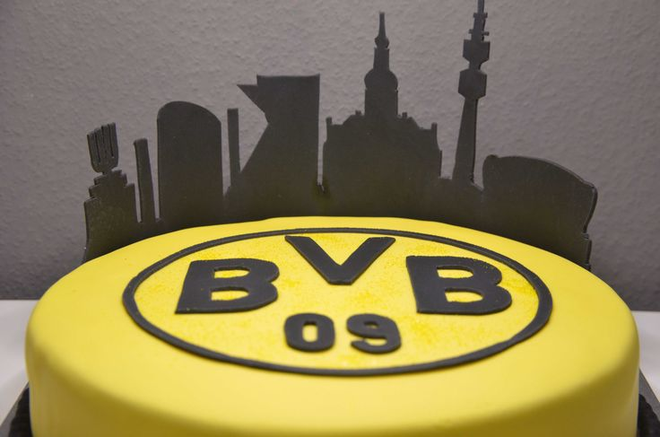 BVB  Birthday Cake Fondant Skyline Football Soccer