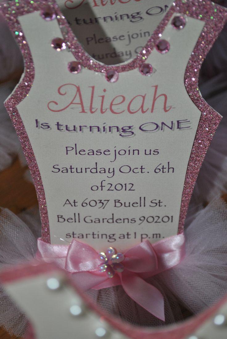 101 best ballerina party ideas images on pinterest ballerina party ballerina 1st birthday invitation filmwisefo