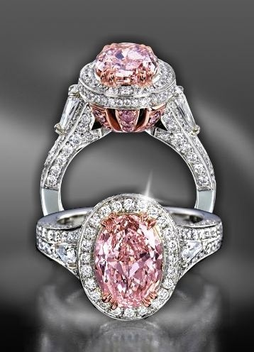 Charles Krypell Pink Diamond Ring. If you can't decide what to get me for Christmas, I'm just trying to give you ideas