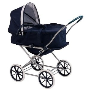 Badger Basket English Style 3-in-1 Doll Pram Carrier And Stroller