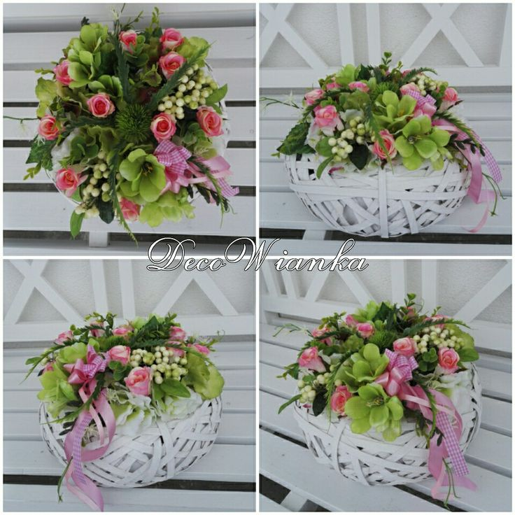 Kompozycja kwiatowa,stroik,dekoracja,sztuczne kwiaty,kompozycja wiosenna,stroik wiosenny