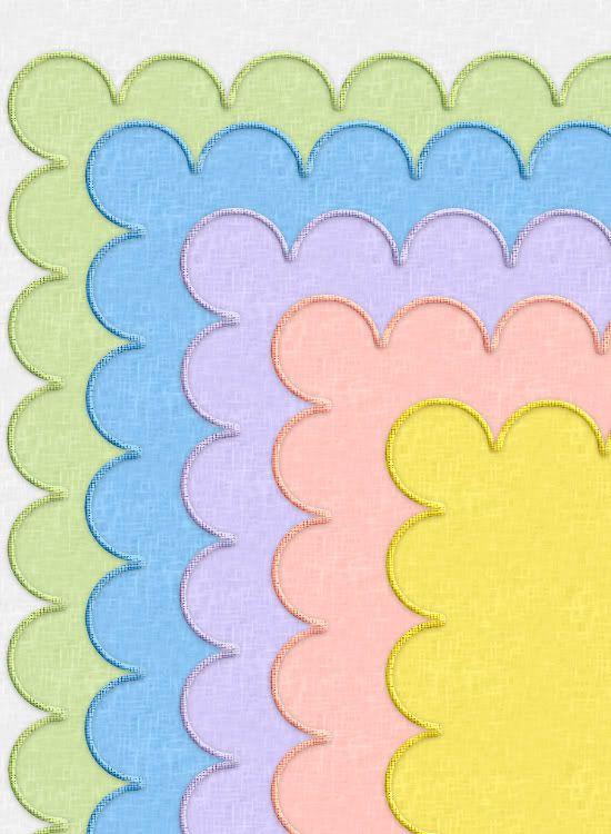 Scalloped Linen Fabric in PaintShop Pro