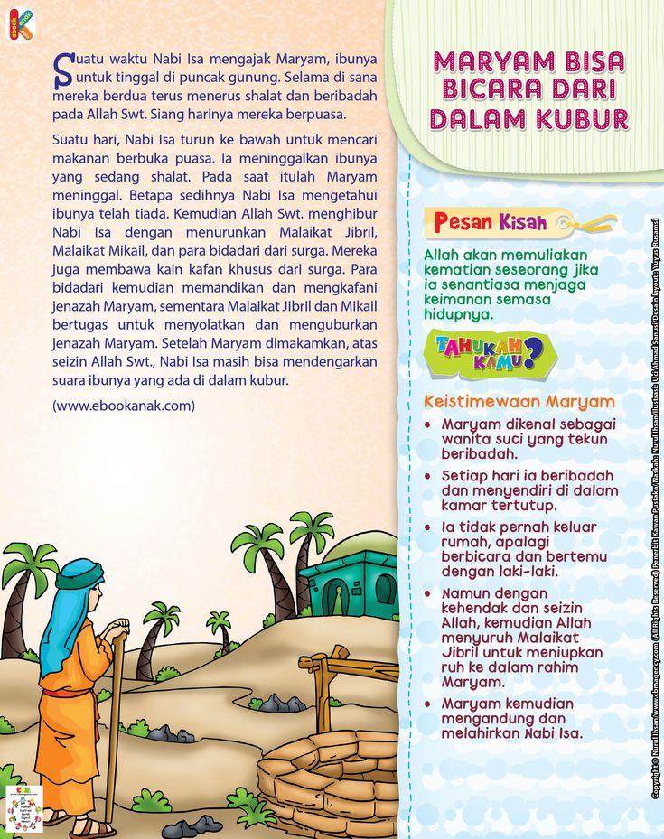 Nabi Isa Bicara dengan Siti Maryam dalam Kubur