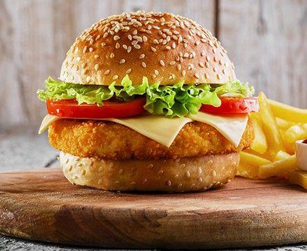 Chicken Burger With Harissa Dressing