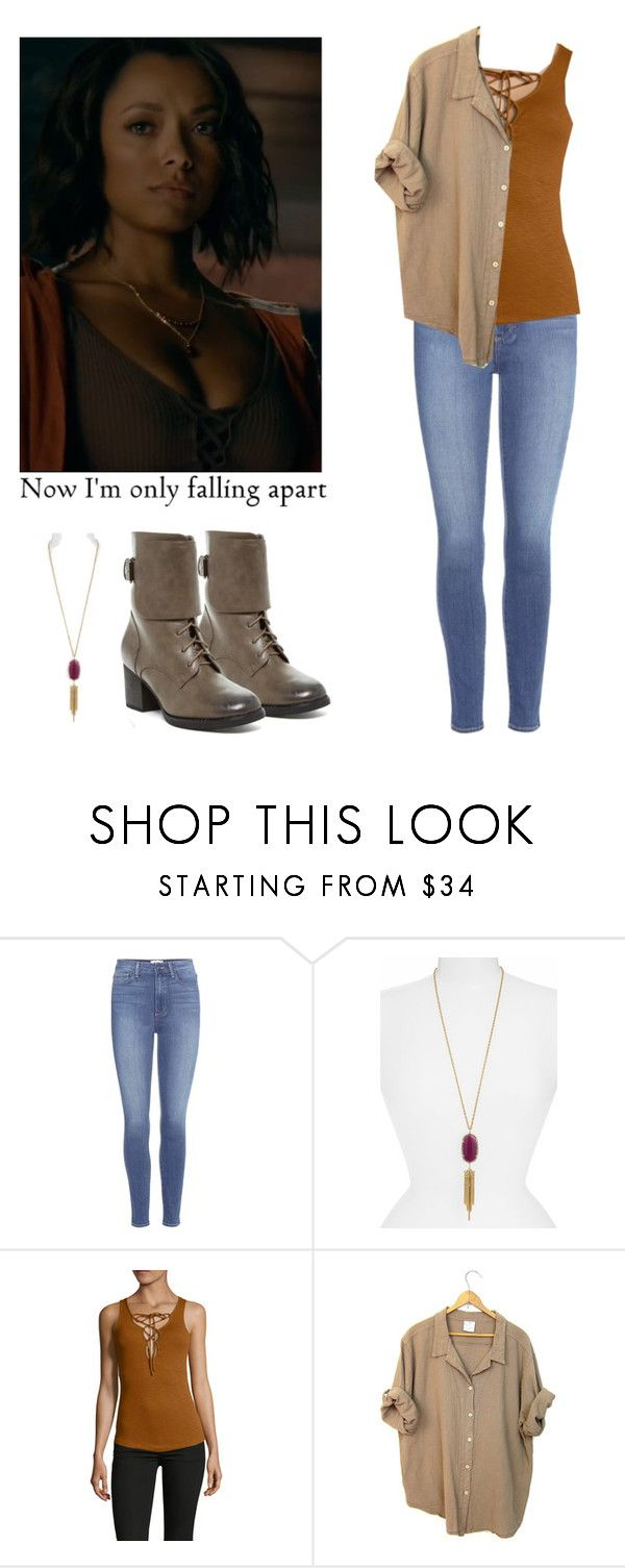 """""""Bonnie Bennett - tvd / the vampire diaries"""" by shadyannon ❤ liked on Polyvore featuring Paige Denim, Kendra Scott, Free People and Bucco"""