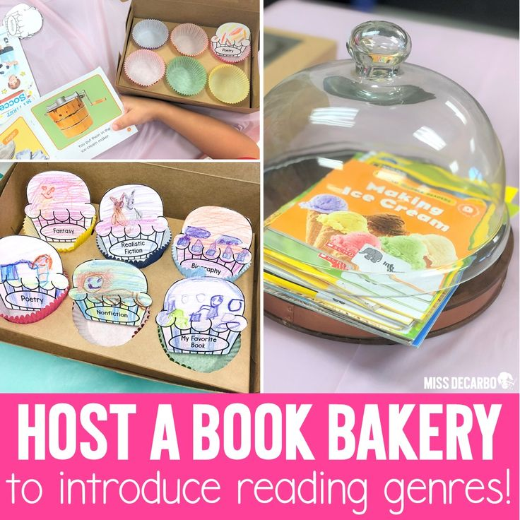 Host a book bakery to teach reading genres reading