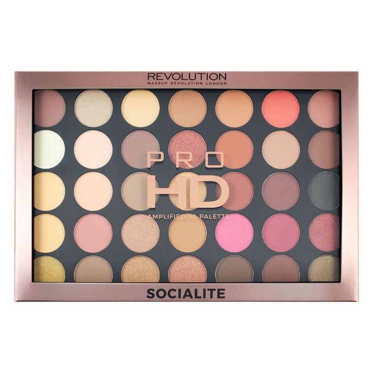 Makeup Revolution Pro HD-Palette verstärkt 35 – Prominente   – makeup