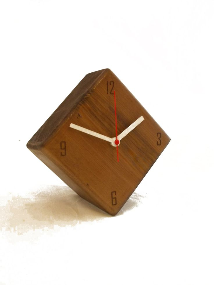 Modern Minimal wood clock Modern wooden clock brown
