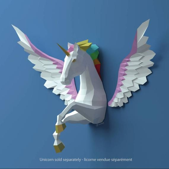 Wings Papercraft, Paper angel wings, Pegasus wings, Do it your self, PDF papercraft sample, cardstock mannequin, fowl lover, CHALLENGING MODEL