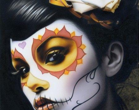 sophia la muerta 39 s up maquillaje d a de los muertos. Black Bedroom Furniture Sets. Home Design Ideas
