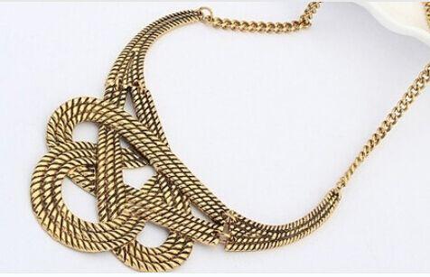 2016 Venta Caliente collar de Gargantilla de joyería de Moda Bohemia Del estilo Punky de Plata Chapado En Oro Collares Declaración de Metal Collares de Cadena para las mujeres