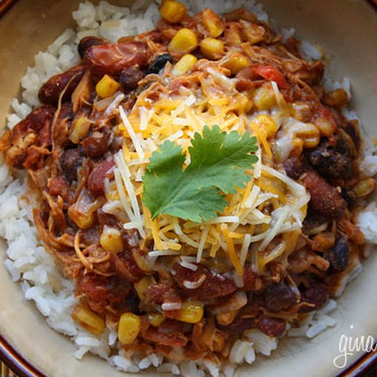 Crock Pot Chicken Taco Chili - Skinnytaste