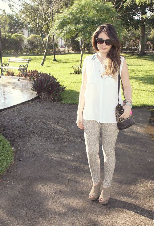 My Pants With Animal Print.  , Pull   & Bear in Shirt / Blouses, Pull   & Bear in Pants, Sfera in Bags, Sfera in Jewelry